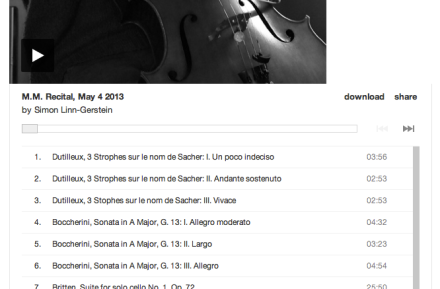 Album Player Screen Shot